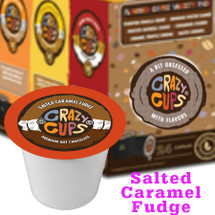 Crazy Cups Salted Caramel Premium Hot Chocolate Single Cup. Indulgent salted caramel and rich hot chocolate–a marriage made in heaven. The angels rejoice. So will your taste buds. Compatible with all single serve brewers, including Keurig® and Keurig® 2.0.