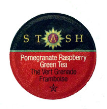 Stash Tea Pomegranate Raspberry Green Tea Single Cup. Caffeinated. Sip your way to a blissful state. Pomegranate Raspberry brews up a beautiful ruby red liquor, with just the right amount of tart fruitiness. Pomegranate, raspberry, green tea, and Japanese Matcha combine to create a perfectly balanced tea. Compatible with all single serve brewers, including Keurig® not Keurig® 2.0.