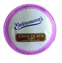 Entenmann's Chocolate Donut Coffee Single Cup. A Medium bodied coffee rich with the chocolate flavors of Entenmann's Classic Donut. Compatible with all single serve brewers, including Keurig® and Keurig® 2.0.