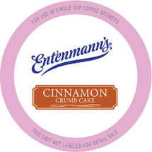 Entenmann's Cinnamon Crumb Cake Coffee Single Cup. Medium bodied coffee rich with the cinnamon flavors of Entenmann's classic crumb cake. Compatible with all single serve brewers, including Keurig® and Keurig® 2.0.