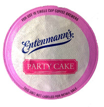Entenmann's Party Cake Coffee Single Cup. Compatible with all single serve brewers, including Keurig® and Keurig® 2.0.
