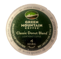 Green Mountain Classic Donut Blend Coffee K-Cup® Pod. A sincerely good, bold, and flavorful cup of coffee