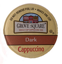 Grove Square Dark Cappuccino Single Cup. Compatible with all single cup brewers, including Keurig®. Not 2.0.