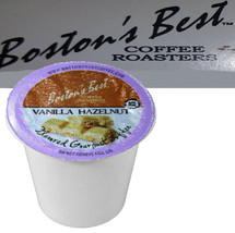 Boston's Best Coffee Roasters Vanilla Hazelnut Coffee Single Cup. Compatible with most or all single cup brewers including Keurig® and Keurig® 2.0