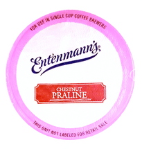 Entenmann's Chestnut Praline Coffee Single Cup. Compatible with all single serve brewers, including Keurig® and Keurig® 2.0.