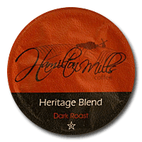 Hamilton Mills Heritage Blend Coffee Single Cup. Compatible with all single serve brewers, including Keurig® not Keurig® 2.0.