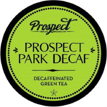 """Prospect Tea Prospect Park Decaf Green Tea Single Cup. Decaffeinated. Written in the year 900 AD during China's Tang Dynasty, """"Cha Jing"""" or """"Tea Classic"""" is considered to be one of the most important manuscripts in the history of green tea. A revered """"how-to"""" manual, it details the shapes of tea plants, flowers, and leaves, and explains how to grow tea plants and process the leaves for unparalleled tea brewing. At Prospect Tea Co., we've perfected the single-serve version of this ancient Asian classic so you don't have to read the book to enjoy a mellow, caffeine-free, green tea brew. Unwind with a hot cup of this powerful antioxidant elixir.Compatible with all single serve brewers, including Keurig® not Keurig® 2.0."""