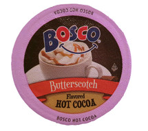 Everyone remembers Bosco chocolate syrup! Now you can have the chocolatey goodness in a single cup hot chocolate! Made with natural cocoa. Bosco Butterscotch Hot Cocoa Single Cup. Buttery, sweet, and delicious, butterscotch is like caramel's younger, more adventurous cousin. And when you blend it with rich milk chocolate, the fun never stops. Our Butterscotch cocoa is certain to put you in a good mood. So, when you brew a cup, don't even try not to smile. Compatible with all single serve brewers, including Keurig® and Keurig® 2.0.