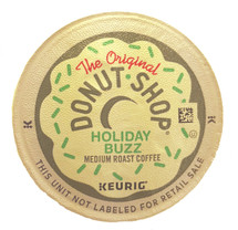 The Original Donut Shop Holiday Buzz Coffee K-Cup® Pod. A bright, bold brew that's deep roasted for a little more oomph to help power you through the season of fun, frenzy, and festivity. Compatible with all single cup brewers.