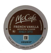 McCafe French Vanilla Coffee K-Cup® Pod. French vanilla flavor. 100% arabica light blend. Compatible with all single cup brewers.