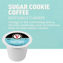 Victor Allen's Coffee Sugar Cookie Coffee Single Cup. Indulge in the comforting aroma, delicate sweetness and scrumptious taste of fresh baked cookies. Compatible with all single cup brewers, including Keurig® and Keurig® 2.0.
