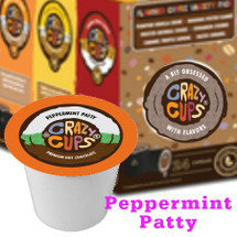 Crazy Cups Peppermint Patty Premium Hot Chocolate Single Cup. Experience the refreshingly cool taste of chocolate-dipped peppermint patties. Compatible with all single cup brewers including Keurig® and Keurig® 2.0.