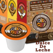 Crazy Cups Dulce De Leche Premium Hot Chocolate Single Cup. Compatible with all single cup brewers including Keurig® and Keurig® 2.0.