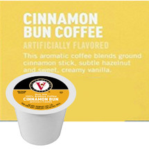Victor Allen's Coffee Cinnamon Bun Coffee Single Cup. Ground cinnamon stick, subtle hazelnut and sweey, creamy vanilla. Compatible with all single cup brewers, including Keurig® and Keurig® 2.0.