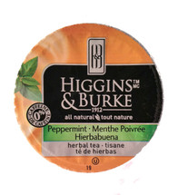 Higgins & Burke Peppermint Tea This refreshing infusion is made with pure premium Oregon peppermint, regarded as the best in the world. Bursting with cool menthol, Higgins & Burke's caffeine-free Peppermint tea provides an invigorating flavour. This refreshing tea can be served on its own or lightly sweetened with sugar or honey. Higgins & Burke Specialty Teas are blended from hand-picked, high-grown tea leaves to deliver premium quality, rich antioxidant content and bold flavours.