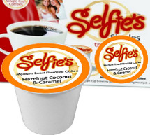 Selfie's Hazelnut, Coconut & Caramel Coffee Single Cup. Compatible with all single serve brewers including Keurig and Keurig 2.0.