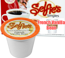 Selfie's French Vanilla Bean Coffee Single Cup. Compatible with all single serve brewers including Keurig and Keurig 2.0