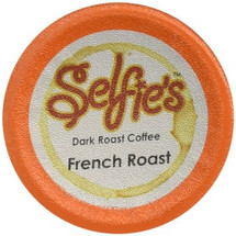 Selfie's French Roast Coffee Single Cup. Compatible with all single serve brewers including Keurig and Keurig 2.0