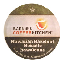 Barnie's Coffee Kitchen Hawaiian Hazelnut Coffee Single Cup. Compatible with most single cup brewers including Keurig but not Keurig 2.0.