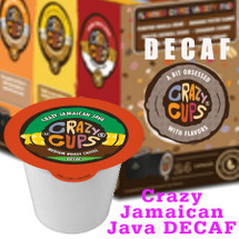Crazy Cups Crazy Jamaican Java DECAF Coffee Single Cup. Irie Mon. Da Taste of Vanilla, Sweet Caramel and a hint of Rum. We be Jammin' Now. Compatible with most single cup brewers including Keurig and Keurig 2.0.