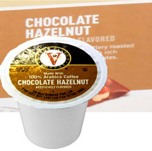 Victor Allen's Coffee Chocolate Hazelnut Coffee Single Cup. Compatible with most single cup brewers including Keurig and Keurig 2.0.