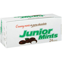Junior Mints 24 boxes Ideal for vending, concessions & C-store Display box
