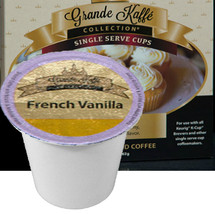 Grande Kaffe French Vanilla Coffee Single Cup. Compatible with all single serve brewers, including Keurig® and Keurig® 2.0.
