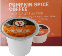 Victor Allen's Coffee Pumpkin Spice Coffee Single Cup. Classic fresh pumpkin flavor with rich aromatic spice notes of nutmeg, cinnamon, clove and ginger. Compatible with most single cup brewers including Keurig and Keurig 2.0.