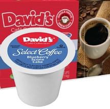 David's Cookies Cafe Collection Blueberry Scone Cake Coffee Single Cup. Compatible with most single cup brewers including Keurig and Keurig 2.0.