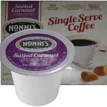 Nonni's Salted Caramel Coffee Single Cup. Compatible with most single cup brewers including Keurig and Keurig 2.0.