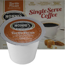 Nonni's Turtle Pecan Coffee Single Cup. Compatible with most single cup brewers including Keurig and Keurig 2.0.