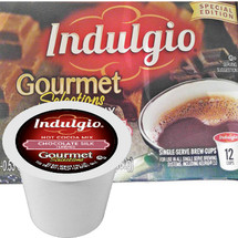 Indulgio Gourmet Selections Chocolate Silk Hot Cocoa Mix Single Cup. Compatible with most single cup brewers including Keurig and Keurig 2.0.