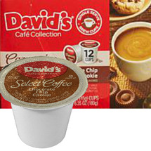 David's Cookies Cafe Collection Chocolate Chip Cookie Coffee Single Cup. Compatible with most single cup brewers including Keurig and Keurig 2.0.