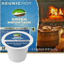 Green Mountain Toasted Marshmallow Mocha Coffee K-Cup Pod. It's like drinking a smores right from the fire place. Compatible with most single cup brewers including Keurig and Keurig 2.0.
