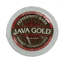 Java Gold Peppermint Bark Coffee Single Cup, A Blend of peppermint swirled with white chocolate notes create this classic coffee. Compatible with most single cup brewers including Keurig and Keurig 2.0.