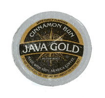 Java Gold Cinnamon Bun Coffee Single Cup. This aromatic coffee blends ground cinnamon stick, subtle hazelnut and sweet, creamy vanilla. Compatible with most single cup brewers including Keurig and Keurig 2.0.