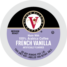 Victor Allen's Coffee French Vanilla Coffee Single Cup. Compatible with most single cup brewers including Keurig and Keurig 2.0.