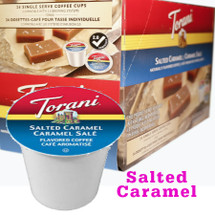 Torani Salted Caramel Coffee Single Cup. Compatible with most or all single cup brewers including Keurig® and Keurig® 2.0.