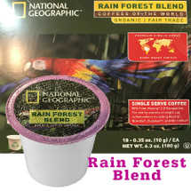 National Geographic Rain Forest Blend Organic Coffee Single Cup. Compatible with most or all single cup brewers including Keurig® and Keurig® 2.0.