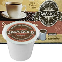 Java Gold Seattle Sunrise Coffee Single Cup. Compatible with most single cup brewers including Keurig and Keurig 2.0.