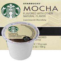 Starbucks Mocha Coffee K-Cup® Pod. Luscious & Chocolaty, smooth with just the right amount of chocolate richness.