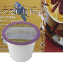 Ara Azzurro Smooth Irish Cream Coffee Single Cup. Compatible with all single serve brewers, including Keurig® and Keurig® 2.0.