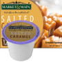 Market & Main Salted Caramel Coffee Single Cup. Buttery caramel and vanilla flavor with a touch of salt. Compatible with most or all single cup brewers including Keurig® and Keurig®