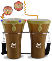 100oz Plastic Light-Up & Sound Bongos