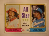 1974 Topps #332 All Star First Basemen Dick Allen & Hank Aaron EX