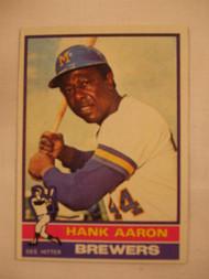 1976 Topps #550 Hank Aaron EX
