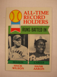 1979 Topps #412 All-Time Record Holders Hack Wilson & Hank Aaron NRMT