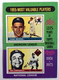 1975 Topps #193 1955 MVPs Yogi Berra & Roy Campanella EX