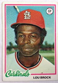 1978 Topps #170 Lou Brock VG