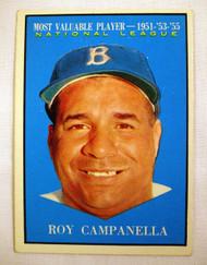 1961 Topps #480 Roy Campanella MVP EX